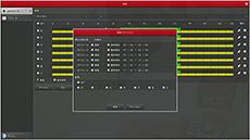 HD-SDI/EX-SDI/IPカメラ対応 DVR【AP-BM04HD2】のスケジュール設定メニューです。
