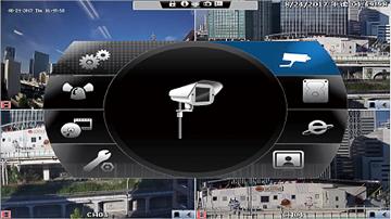 AHD/HD-TVI/HD-CVI/CVBS 4CHデジタルレコーダー【AP-EG04RS】は見やすく使いやすいメニュー表示を実現。