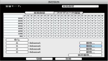 AHD/HD-TVI/HD-CVI/CVBS 8CHデジタルレコーダー【AP-EG08RS】は、撮影シーンに合わせて綿密な録画スケジュールを設定することができます。