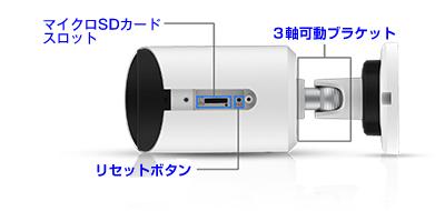 H.265ビデオ圧縮方式対応、200万画素ネットワークカメラ(RK-230ME)は、マイクロSDカードで簡単録画
