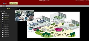 HD-SDI/EX-SDI/IPカメラ対応 DVR【AP-BM04HD2/AP-BM08HD/AP-BM16HD】用VMSソフトウェアは、電子マップを利用することにより、多拠点にわたって設置されたカメラの遠隔ライブ監視を視覚的にサポートします。