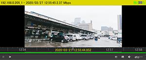 HD-SDI/EX-SDI/IPカメラ対応 DVR【AP-BM04HD2/AP-BM08HD/AP-BM16HD】用VMSソフトウェアは、遠隔接続先のHD-SDIデジタルレコーダーの録画ファイルを遠隔再生できます。