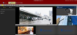 HD-SDI/EX-SDI/IPカメラ対応 DVR【AP-BM04HD2/AP-BM08HD/AP-BM16HD】用VMSソフトウェアは様々な分割表示パターンを登録することができます。