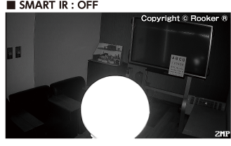 SMART IR機能オフ時の撮影